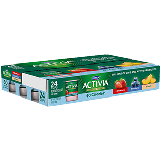 Activia Light Yogurt, Blueberry, Strawberry and Peach Combo Pack, 4oz