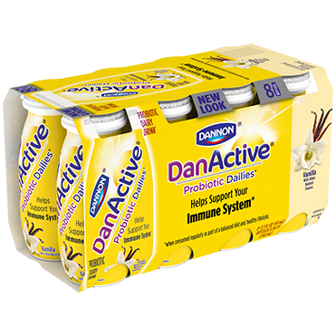 DanActive Probiotic Dailies, Vanilla 93mL