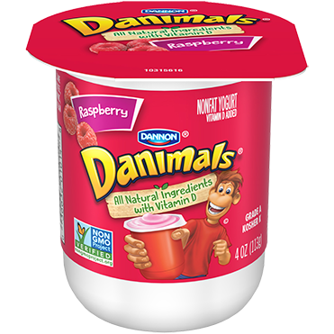 Danimals Yogurt, Raspberry 4oz