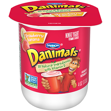 Danimals Yogurt, Strawberry Banana 4oz