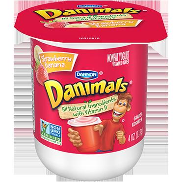 Danimals Yogurt, Strawberry Banana 4oz