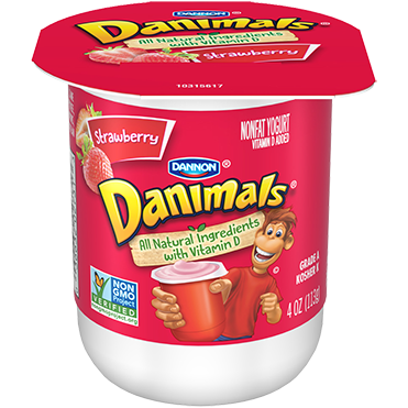 Danimals Yogurt, Strawberry 4oz