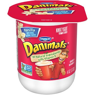 Danimals Yogurt, Vanilla 4oz