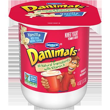 Danimals Yogurt Vanilla 4oz Wholesale Danone Food Service