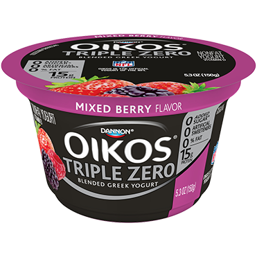 Oikos Triple Zero Greek Yogurt, Mixed Berry 5.3oz