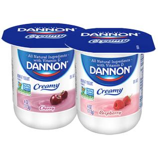 Dannon Yogurt, Cherry, Raspberry Combo Pack, 4oz