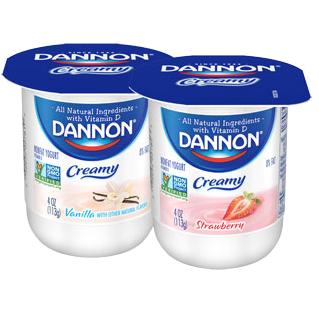 Dannon Yogurt, Strawberry, Vanilla Combo Pack, 4oz