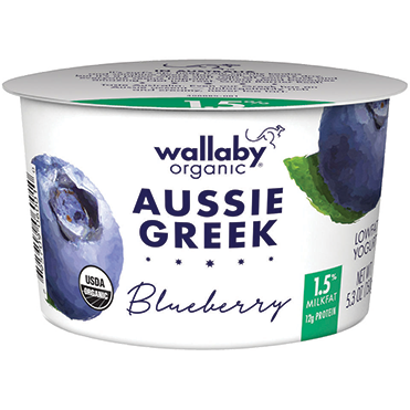 Wallaby Lowfat Greek Yogurt, Blueberry 5.3oz