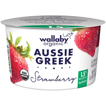 Wallaby Lowfat Greek Yogurt, Strawberry 5.3oz