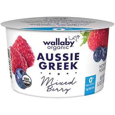 Wallaby Nonfat Greek Yogurt, Mixed Berry 5.3oz