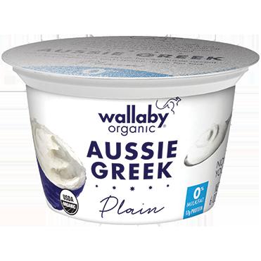 Wallaby Nonfat Greek Yogurt, Plain 6oz