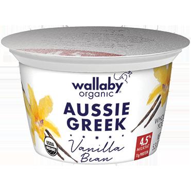 Wallaby Whole Milk Greek Yogurt, Vanilla 5.3oz