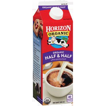 Horizon Organic Half & Half, Quart