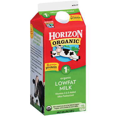 Horizon Organic 1% Milk, Half Gallon