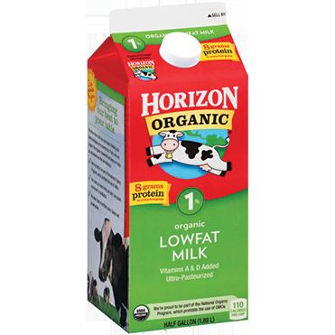 Horizon Organic 1% Milk, Half Gallon