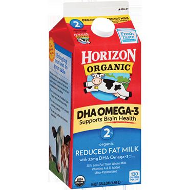 Horizon Organic 2% Milk, Half Gallon
