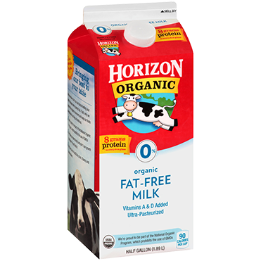 Horizon Organic Fat Free Milk, Half Gallon