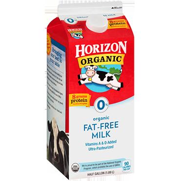 Horizon Organic Fat Free Milk, Half