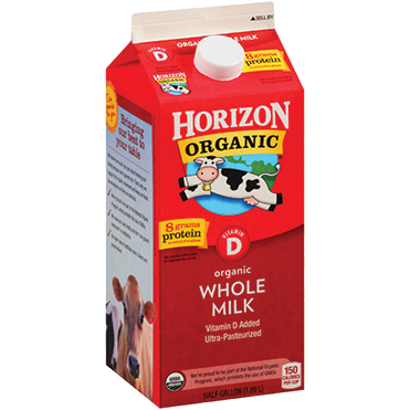 Horizon Organic Whole Milk, Half Gallon
