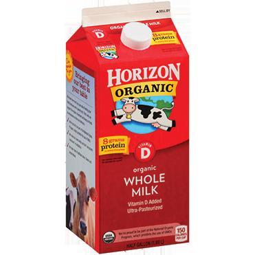 Horizon Organic Whole Milk, Half Gallon