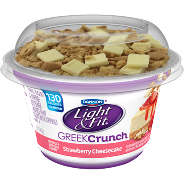 Light & Fit Greek Crunch Yogurt, Strawberry Cheesecake 5oz