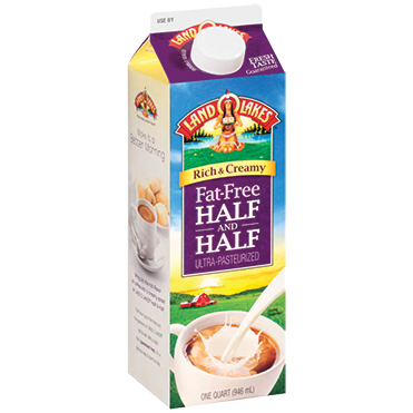 Land O'Lake Half & Half, Fat Free 32oz