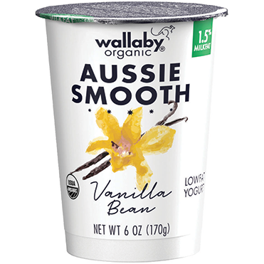 Wallaby Lowfat Yogurt, Vanilla Bean 6oz