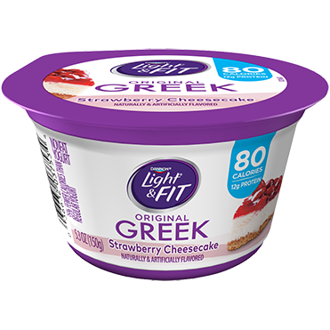 Light & Fit Greek Yogurt, Strawberry Cheesecake 5.3oz