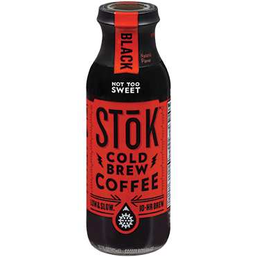 SToK Cold Brew Coffee, Black Not Too Sweet 13.7oz