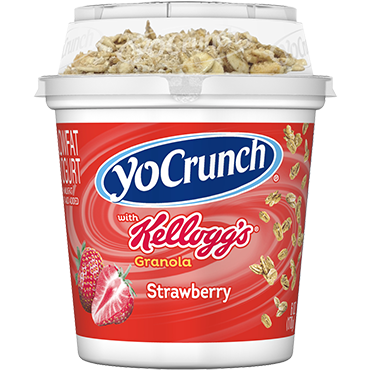 YoCrunch Lowfat Yogurt, Strawberry with Kellogg's Granola, 6oz