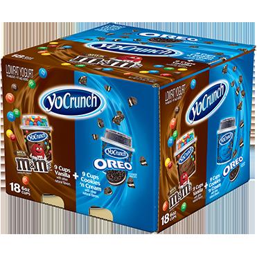 YoCrunch Lowfat Yogurt with Oreo®,  M&Ms® Combo Pack, 6oz