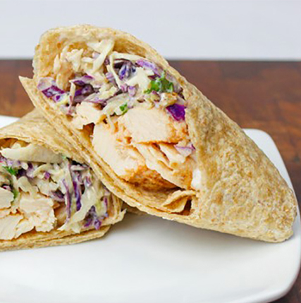 Siracha Chicken Wrap