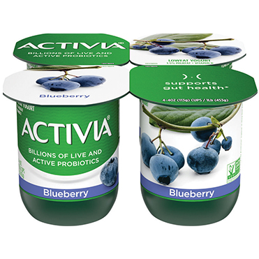 Activia Lowfat Yogurt, Blueberry 4oz