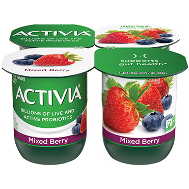 Activia Lowfat Yogurt, Mixed Berry 4oz