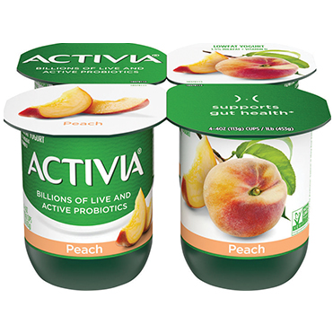 Activia Lowfat Yogurt, Peach 4oz