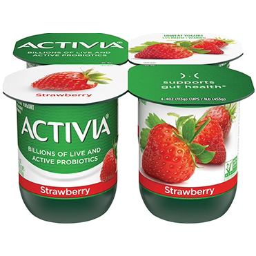 Activia Lowfat Yogurt, Strawberry 4oz