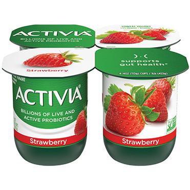 Activia Lowfat Yogurt, Strawberry 4oz