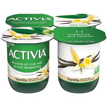 Activia Lowfat Yogurt, Vanilla 4oz
