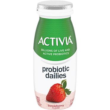 Activia Probiotic Dailies Yogurt Drink, Strawberry, 3.1oz