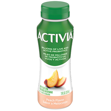 Activia Probiotic Dairy Drink, Peach 7oz