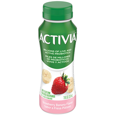 Activia Probiotic Dairy Drink, Strawberry Banana 7oz