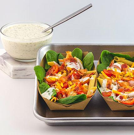 BLT Pasta Salad with Yogurt Dressing