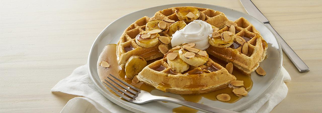 Banana Fosters Waffle