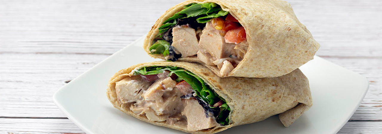 Chicken Wrap with Creamy BBQ Yogurt Sauce