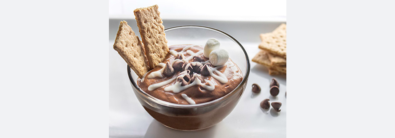 Chocolate S'more Yogurt Dip