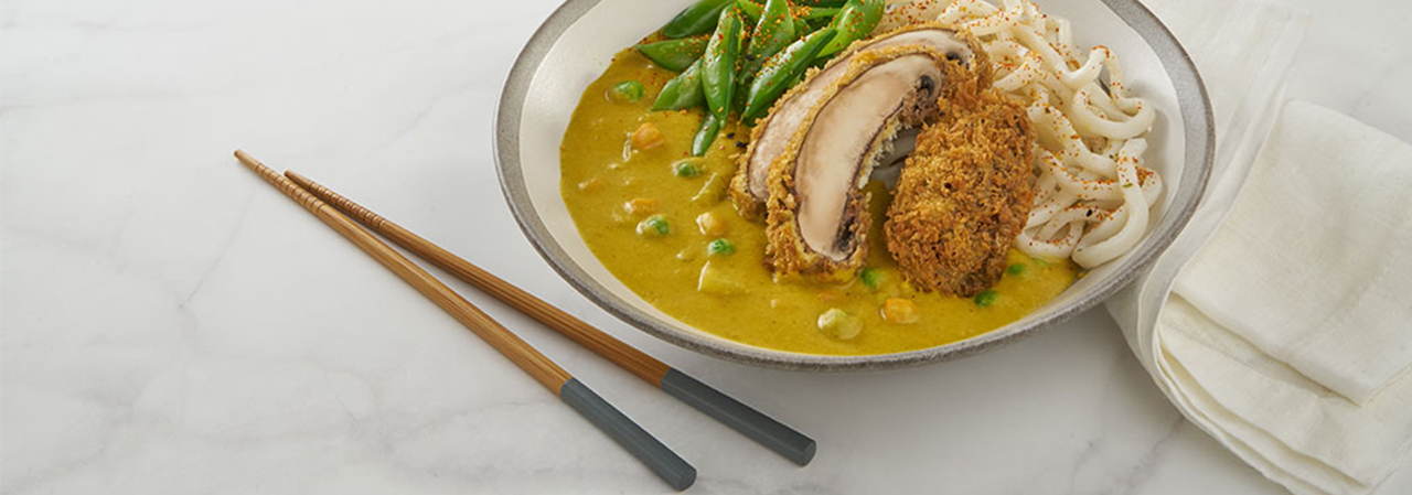 Curried Tonkatsu Udon Bowl