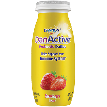 DanActive Probiotic Dailies Dairy Drink, Strawberry 3.1oz