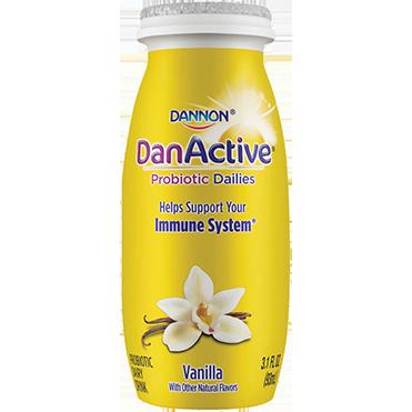 DanActive Probiotic Dailies Dairy Drink, Vanilla 3.1oz