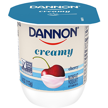 Dannon Creamy Nonfat Yogurt, Cherry 4oz