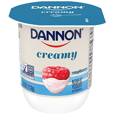 Dannon Creamy Nonfat Yogurt, Raspberry 4oz